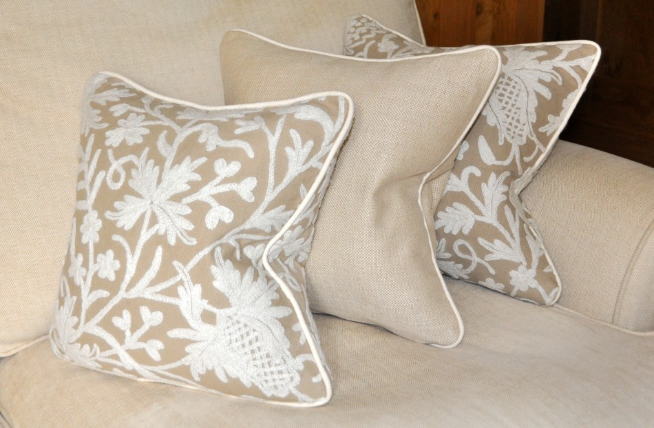 indian piped cushions