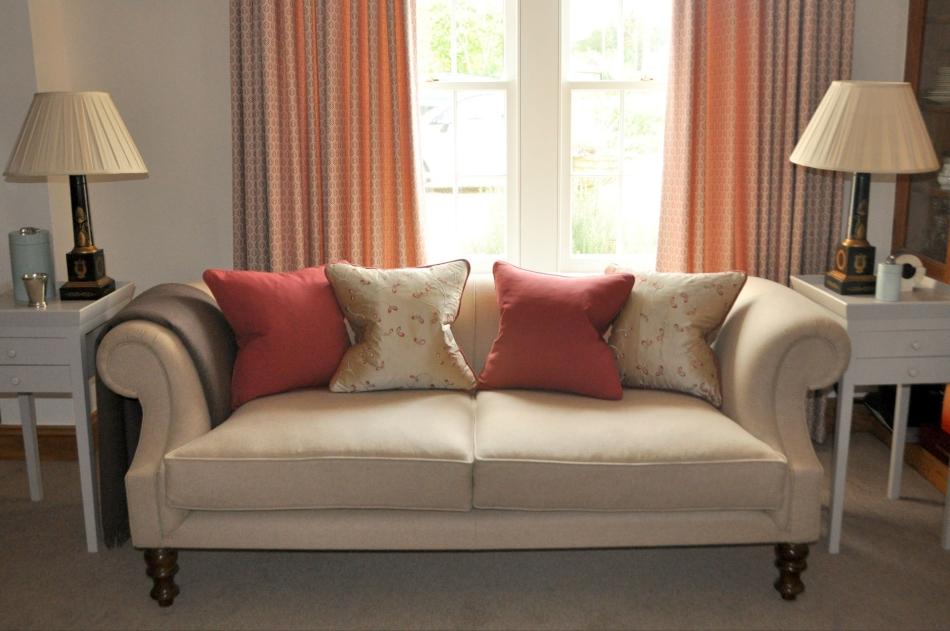 bespoke sofa and cushions